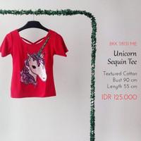 Kaos Wanita - Unicorn Sequin Tee