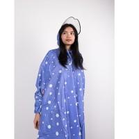 Termurah MODERN Jas hujan wanita jas hujan poncho GRC polkadot - 8033