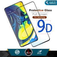 Aladoy Tempered Glass Samsung A80 Screen Protector Full Cover Premium