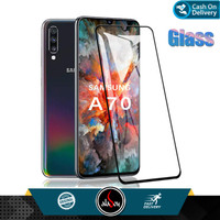 Aladoy Tempered Glass Samsung A70 Screen Protector Full Cover Premium