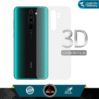 Garskin Carbon Xiaomi Redmi Note 8 Pro Back Screen Protector Skin