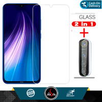 Aladoy Tempered Glass Layar Clear dan Camera Lens Xiaomi Redmi Note 8