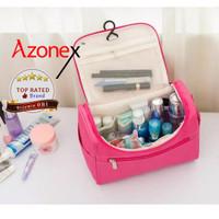 Tempat Penyimpanan Travel Bag Tas Make up & Tas kosmetik Polos - Pink thumbnail