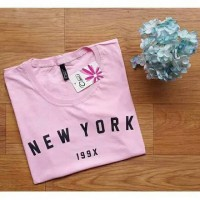 Kaos Wanita New York Kaos adem pink tumblr tee murah t-shirt