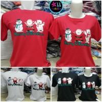 Baju Natal Santa Berpegangan - Kaos Couple Merry Christmas Distro
