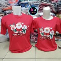 Baju Natal Pinguin All Friends - Kaos Couple Natalan Merry Christmas