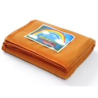 Selimut Flanel Polos Rainbow Hijau Uk 150 x 190