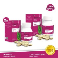 Herbavit Slimfit Kaplet Pelangsing Badan Alami 800gr Twinpack