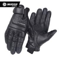 Sarung Tangan Kulit Scoyco MC46 MC 46 Retro Leather Motorcycle Gloves
