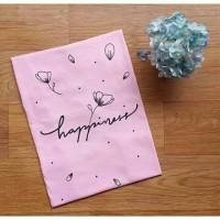 Kaos Wanita t-shirt happiness happy pink tee tumblr murah adem
