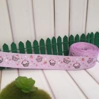 Pita Grossgrain Motif Lolipop Black, cupcake pink, ungu 1''(2.5cm)