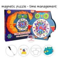 Zoetoys Magnetic Puzzle - Time Management |mainan edukasi Suitcase