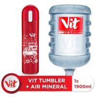 VIT Air Mineral 19liter (1 galon) + VIT TUMBLER Macet Santuy (Red)