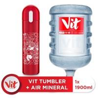 VIT Air Mineral 19liter (1 galon) + VIT TUMBLER Olahraga Santuy (Red)