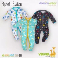 Dreamwear Velvet Sleepsuit Junior Boy Series Planet Edition Tutup Kaki