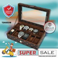 PROMO MOTIF - Kotak Tempat Jam Tangan Isi 12 / Box Jam / Watch Box