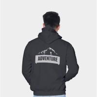 Vallenca Jaket Gunung Hoodie Adventure Unik Hitam Original Sablon Bela