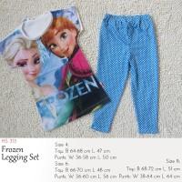 Setelan Anak Perempuan SALE - Elsa Anna Legging Set