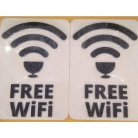 Sign Free Wifi Akrilik 3D