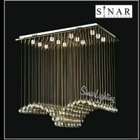 Lampu plafon senar kristal LED 834/75 cm x 45 cm