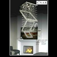 Lampu gantung senar kristal 835/50 cm x 1.1 meter