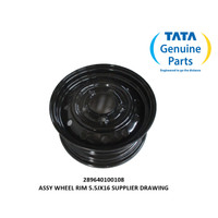 TATA MOTORS XENON RX ASSY WHEEL RIM 5.5JX16 SUPPLIER DRAWING 289640100