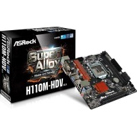 Motherboard Komputer / Laptop TERBARU ASRock H110M HDV DDR4 Diskon