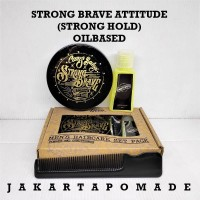 Pomade Strong Brave Attitude SBA Strong Hold Oilbased Canis Nubilus