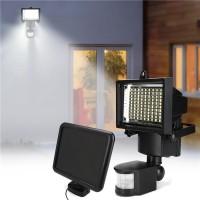 Cantik Lampu Sorot 100 LED Tenaga Surya dengan Sensor Gerak PIR