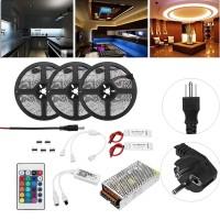 Terbaik 15m SMD5050 RGB Lampu Strip LED Kontrol App Pintar