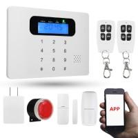 SALE Alarm Rumah Wireless (Quad-Band GSM, Layar LCD, Auto Dial,