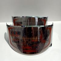 kaca helm / Flat Visor nhk Rx9. PNP GM racepro ( iridium SILVER )