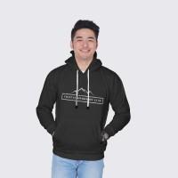 Vallenca Jaket Hoodie Gunung Indonesia Itu Luas Hitam Original