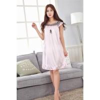 Daster Baju Tidur Wanita Jumbo Big Size Import Warna Pink Muda