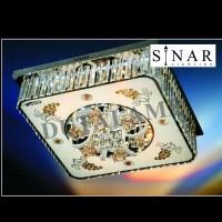 Lampu plafon kristal remote 9580/60 cm