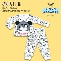 Baju Setelan Piyama Anak Bayi Lengan Panjang - Panda
