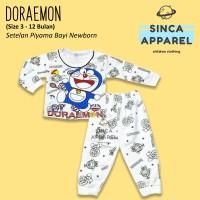 Baju Setelan Piyama Anak Bayi Lengan Panjang - Doraemon