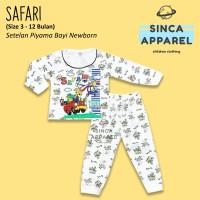 Baju Setelan Piyama Anak Bayi Lengan Panjang - Safari