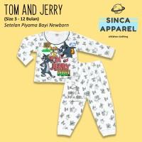 Baju Setelan Piyama Anak Bayi Lengan Panjang - Tom and Jerry