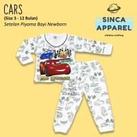 Baju Setelan Piyama Anak Bayi Lengan Panjang - Cars