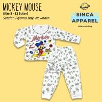 Baju Setelan Piyama Anak Bayi Lengan Panjang - Mickey Mouse