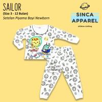 Baju Setelan Piyama Anak Bayi Lengan Panjang - Sailor