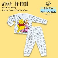Baju Setelan Piyama Anak Bayi Lengan Panjang - Winnie The Pooh