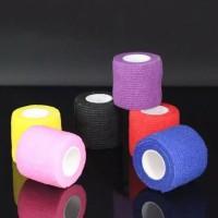 self adheshive elastic bandage grip for gand /mesin sulam/mesin tatto
