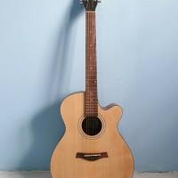Gitar Akustik Merk Shelby Original Warna Natural Trusrod Murah Jakarta