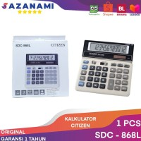 KALKULATOR CITIZEN SDC 868L ORIGINAL CALCULATOR CITIZEN GARANSI