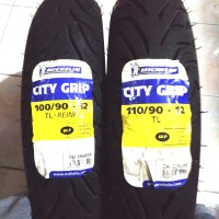 Paket Anjir Sepasang Ban Michelin City Grip 100/90-12 & 110/90-12