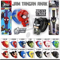 Dennos JC-01 Jam Tangan Anak ROBOT SUPERHERO KARAKTER LUCU LOL BATMAN