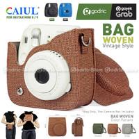 Fujifilm Leather Bag Polaroid Fuji Instax 9 & 8 Tas RETRO WOVEN Case