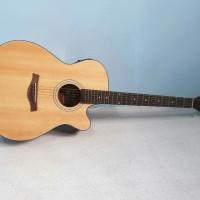 Gitar Akustik Elektrik Merk Shelby Original Warna Natural Eq Tuner